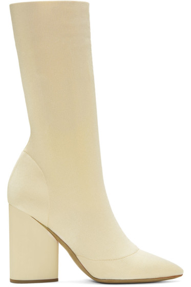 YEEZY - Ivory Knit Ankle Boots