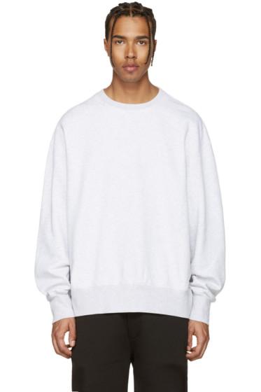 YEEZY - Grey Boxy Crewneck Sweatshirt