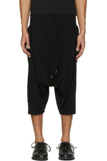 The Viridi-anne - Black Baggy Pocket Shorts