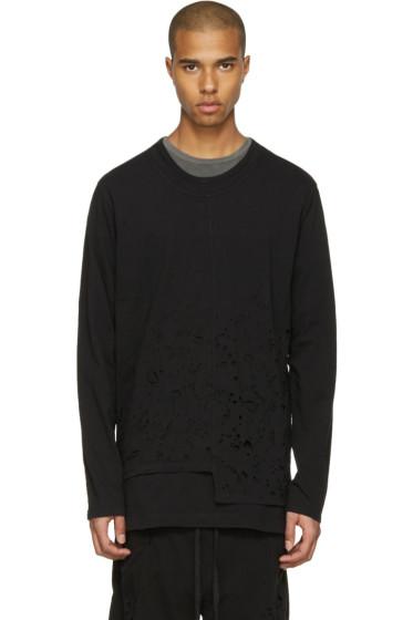 The Viridi-anne - Black Destroyed Long Sleeve T-Shirt