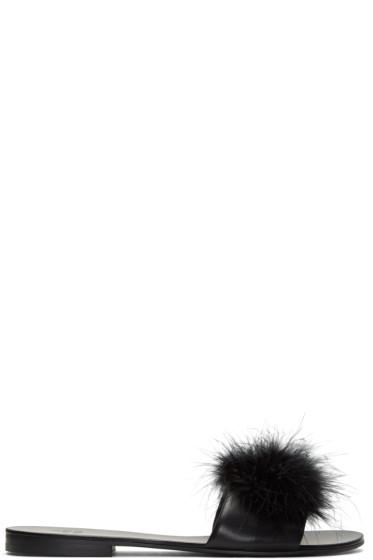 Le Petit Trou - Black Jacqueline Sandals