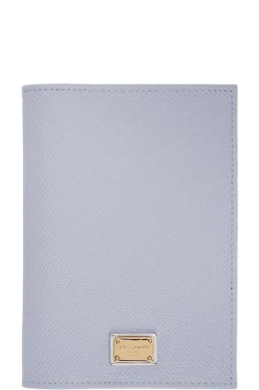 Dolce & Gabbana - Blue Leather Passport Holder