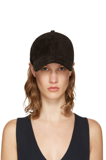 Rag & Bone - Black Suede Marilyn Baseball Cap