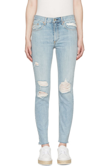 Rag & Bone - Blue Marilyn Skinny Jeans