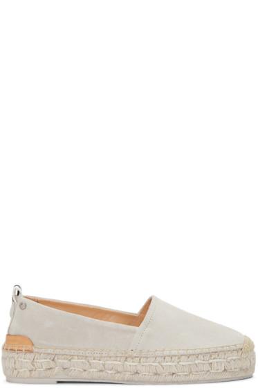Rag & Bone - Off-White Suede Adria Espadrilles