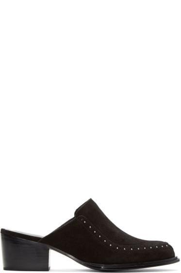 Rag & Bone - Black Suede Weiss Slip-On Loafers