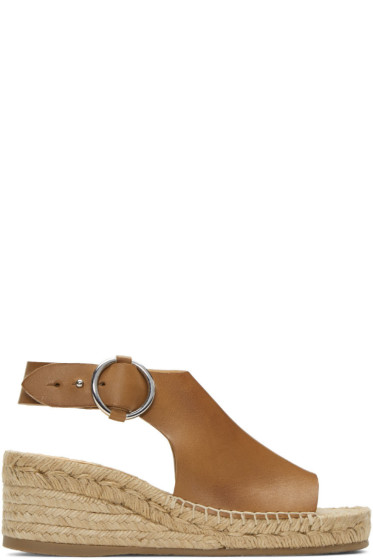 Rag & Bone - Tan Calla Espadrille Wedge Sandals