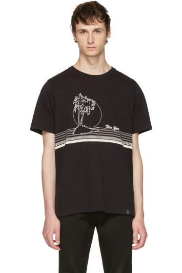Rag & Bone - Black 'New York' Palm T-Shirt