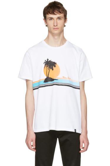 Rag & Bone - White 'New York' Vacation T-Shirt