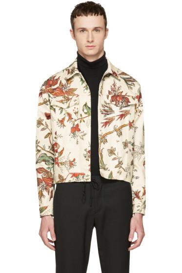 McQ Alexander McQueen - Beige Denim Floral Billy Jacket