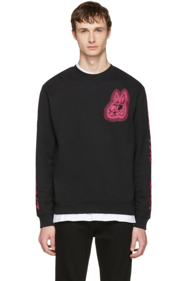 McQ Alexander McQueen - Black 'Bunny Be Here Now' Clean Sweatshirt
