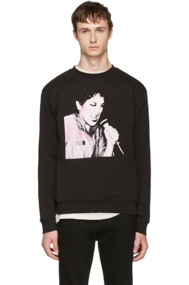 McQ Alexander McQueen - Black Graphic Clean Sweatshirt