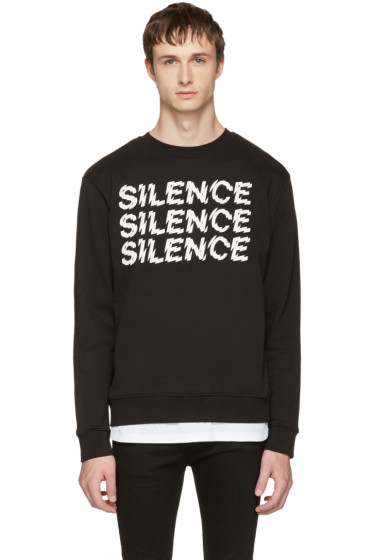 McQ Alexander McQueen - ブラック Silence クリーン スウェットシャツ