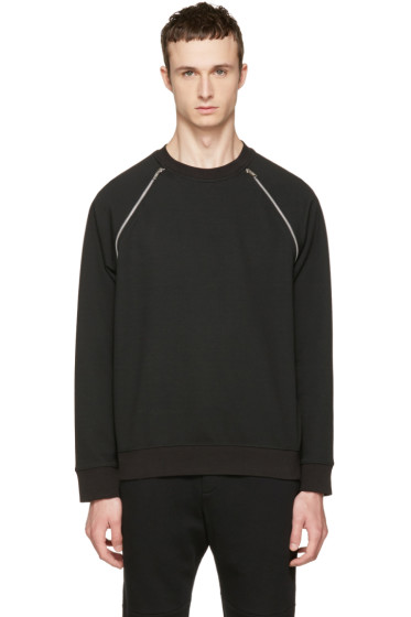 McQ Alexander McQueen - Black Mix Zip Sweatshirt