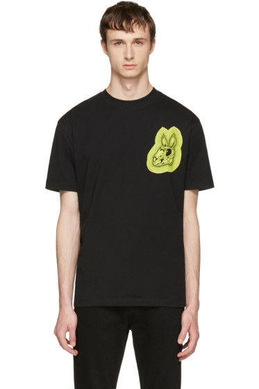 McQ Alexander McQueen - Black 'Bunny Be Here Now' T-Shirt