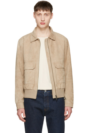 Tiger of Sweden - Taupe Suede Chaz 5 Jacket
