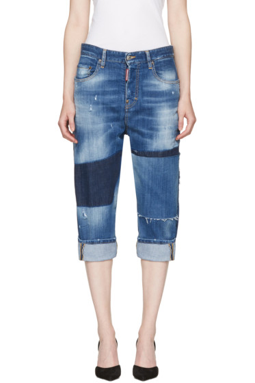 Dsquared2 - Blue Patchwork Kawaii Jeans
