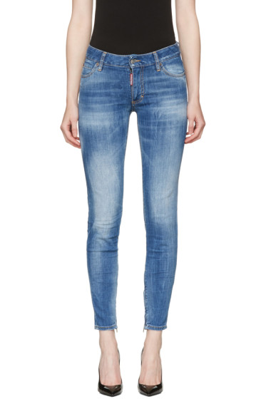 Dsquared2 - Blue Medium Waist Skinny Jeans