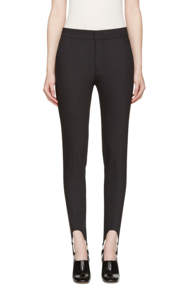 Helmut Lang - Black Stirrup Trousers