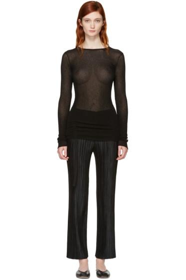 Helmut Lang - Black Drawstring Pullover