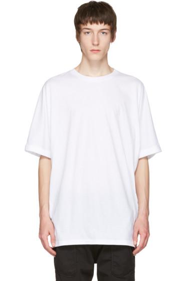 Helmut Lang - White Uni Sleeve T-Shirt