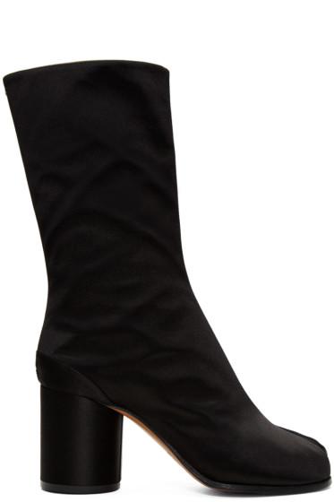 Maison Margiela - ブラック サテン タビ ブーツ