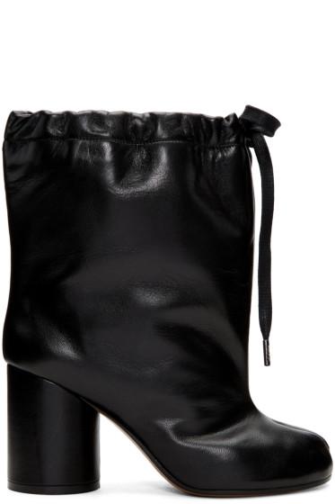 Maison Margiela - ブラック ドローストリング タビ ブーツ