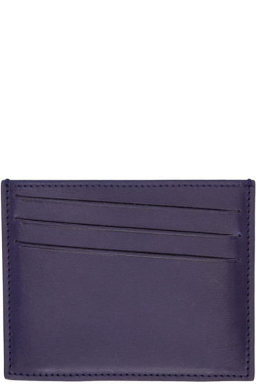 Maison Margiela - Indigo Leather Card Holder