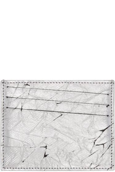 Maison Margiela - Silver Leather Card Holder