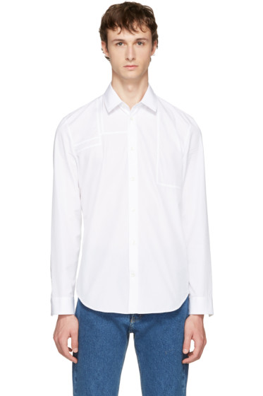 Maison Margiela - White Panelled Poplin Shirt
