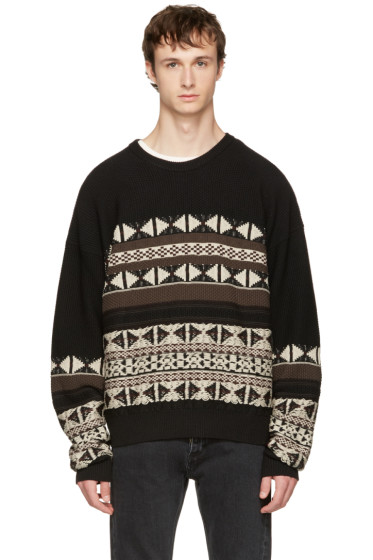 Maison Margiela - Black Fair Isle Sweater