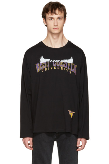 Maison Margiela - Black Oversized University T-Shirt