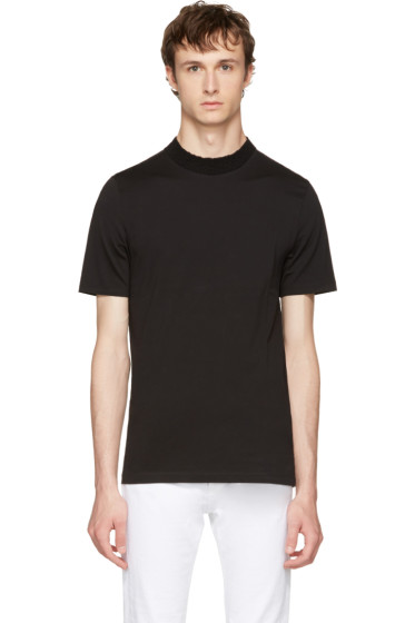 Maison Margiela - Black Knit Crewneck T-Shirt