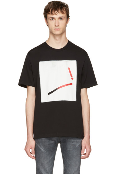 Maison Margiela - Black Loose Graphic T-Shirt
