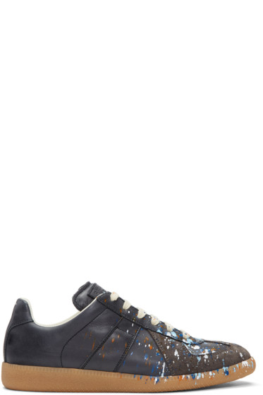 Maison Margiela - Black Paint Splash Replica Sneakers