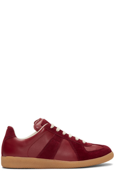 Maison Margiela - Burgundy Replica Sneakers