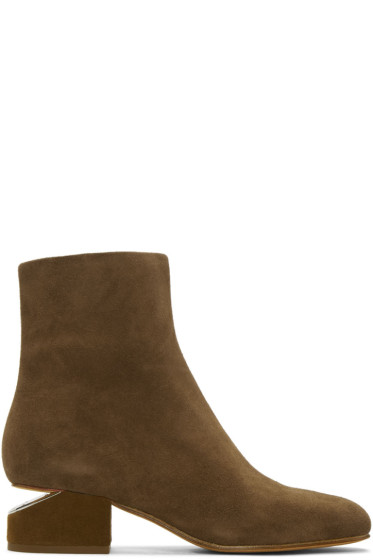 Alexander Wang - Tan Suede Kelly Boots