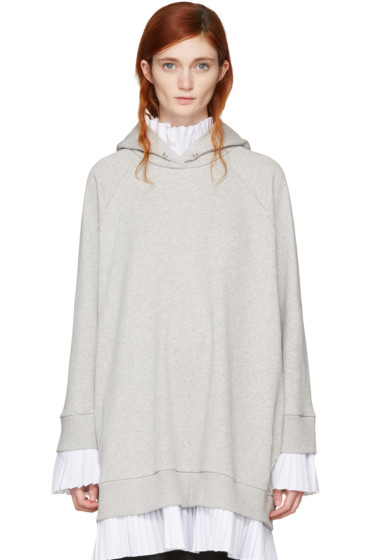 MM6 Maison Margiela - Grey Layered Hoodie Dress