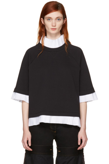 MM6 Maison Margiela - Black Mock Layered Sweatshirt