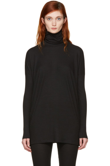 MM6 Maison Margiela - Black Ribbed Turtleneck