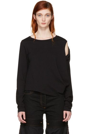 MM6 Maison Margiela - Black Crooked T-Shirt