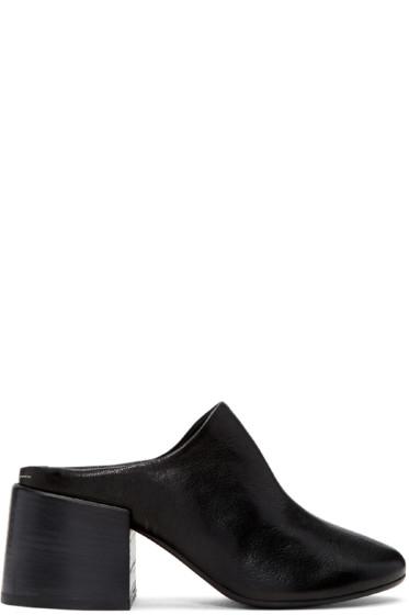 MM6 Maison Margiela - Black Leather Mules
