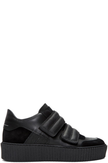 MM6 Maison Margiela - Black Platform Sneakers