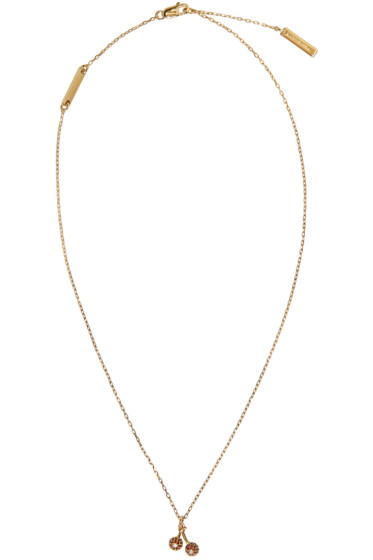 Marc Jacobs - Gold Cherry Something Special Necklace