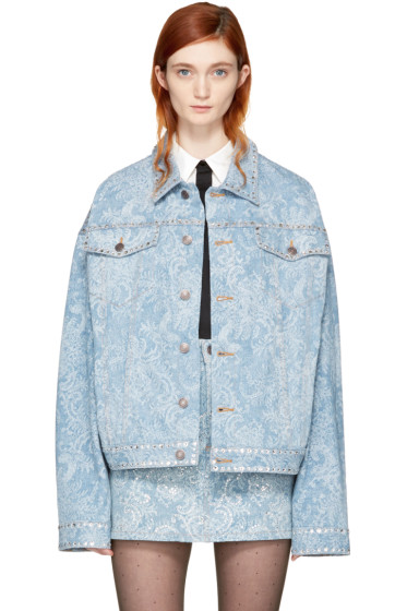 Marc Jacobs - Purple Oversized Embellished Denim Jacket