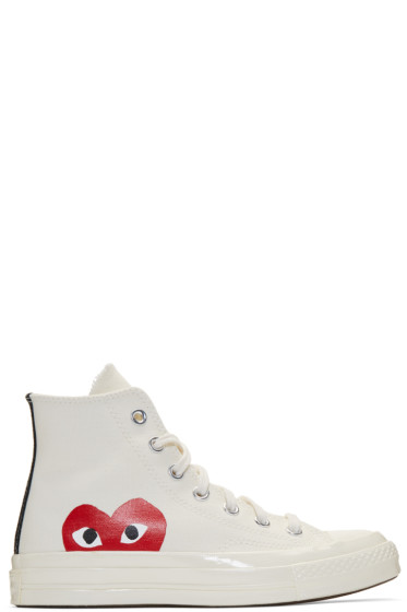 Comme des Garçons Play - Off-White Converse Edition Chuck Taylor All-Star '70 High-Top Sneakers