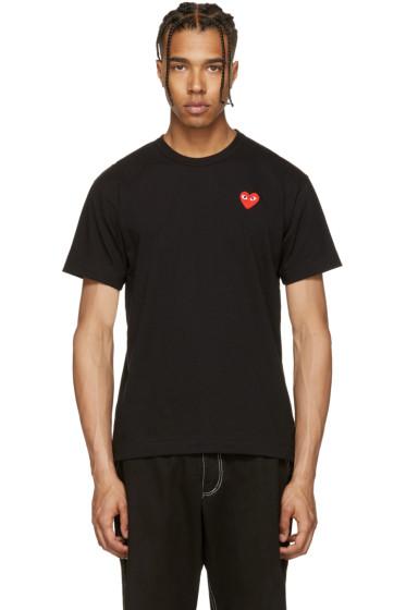 Comme des Garçons Play - Black & Red Heart Patch T-Shirt