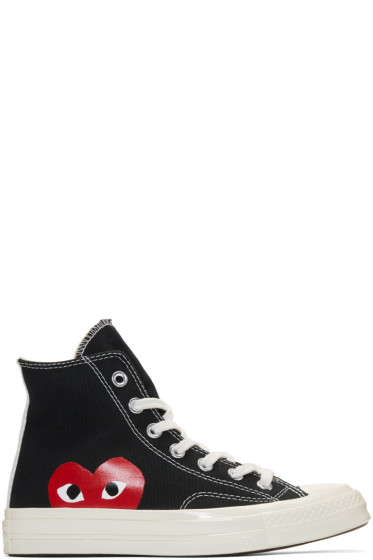 Comme des Garçons Play - Black Converse Edition Chuck Taylor All-Star '70 High-Top Sneakers
