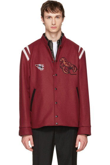 Lanvin - Red Wool Lobster Bomber Jacket
