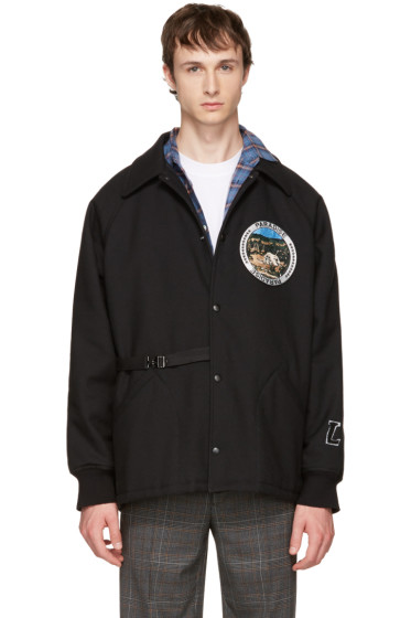 Lanvin - Black 'Paradise' Patch Jacket